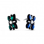 Swarovski Shoe Clips, Multicolored, Rhodium plated