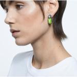 Orbita earrings, Asymmetrical, Octagon cut crystal