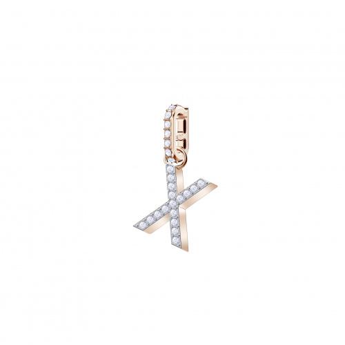 Swarovski Remix Collection Charm X, White, Rose-gold tone plated