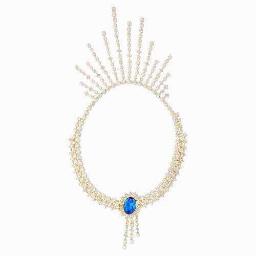 Penélope Cruz Icons of Film Necklace, Blue, Gold-tone plated