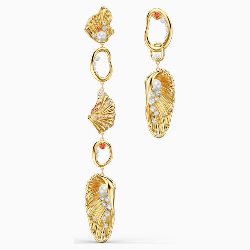 Shell Angel Pierced Earrings, Light multi-coloured