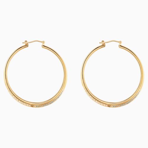 Gilded Treasures Hoop Pierced Earrings, White