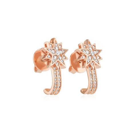 Moonsun Pierced Earring Jackets, White, Rose