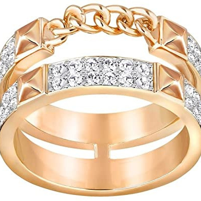 Fiction Crystal and Rose Gold Ring