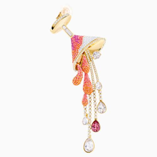 Optimum Ear Cuff, Multi-colored, Gold-tone plated |