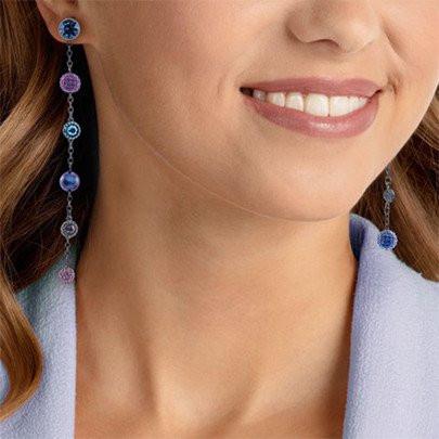 Magnetized Pierced Earrings, Multi-colored