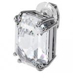 Mesmera clip earring, Single, Octagon cut crystal