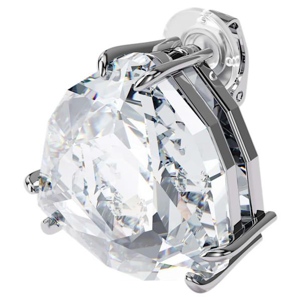 Mesmera clip earring, Single, Triangle cut crystal