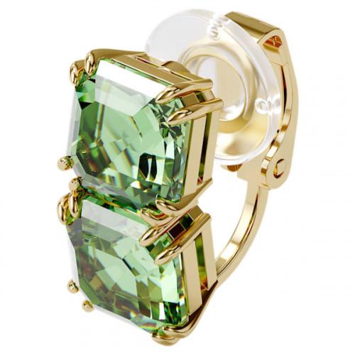 Millenia ear cuff, Single, Green, Gold-tone plated