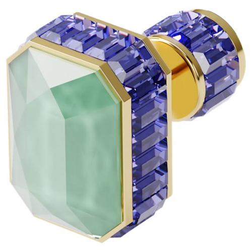 Orbita earring, Single, Octagon cut crystal