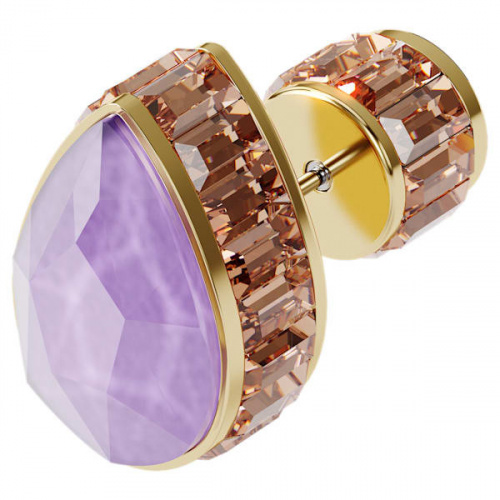 Orbita earring, Single, Drop cut crystal