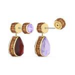 Orbita earrings, Asymmetrical, Drop cut crystals