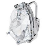 Mesmera clip earring, Trilliant cut crystal, White