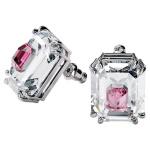 Chroma earrings, Pink, Rhodium plated
