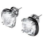 Harmonia earrings, Cushion cut crystals, White