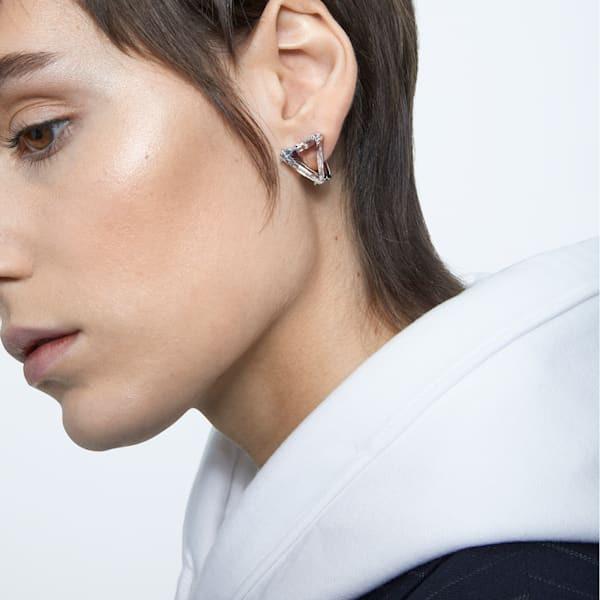 Mesmera clip earring, Single, Delta, White