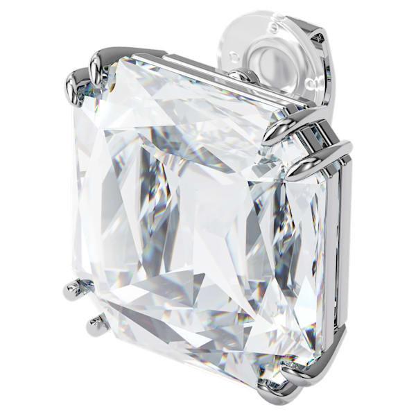 Mesmera clip earring, Single, Square cut crystal