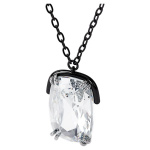 Harmonia pendant, Oversized crystals, White