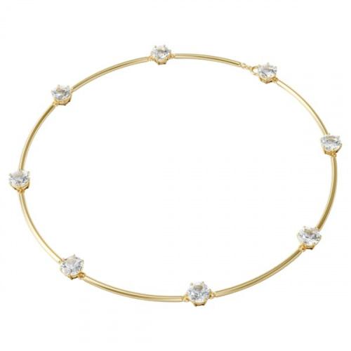 Constella choker, White, Gold-tone plated