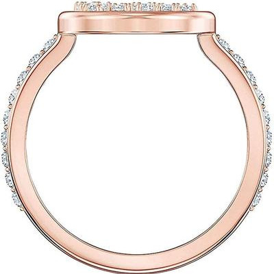 Ring with North Motif, White, Rose Gold