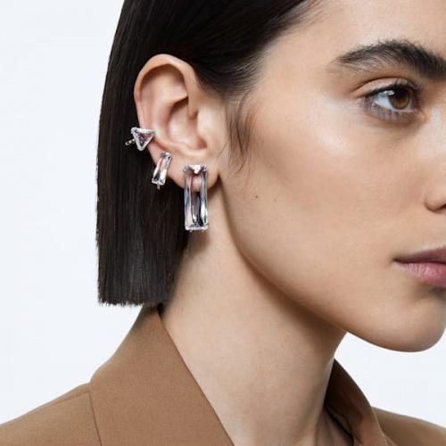 Mesmera clip earring, Single, Set, Baguette cut