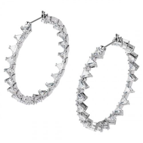 Millenia hoop earrings, Triangle Swarovski Zirconia, Large
