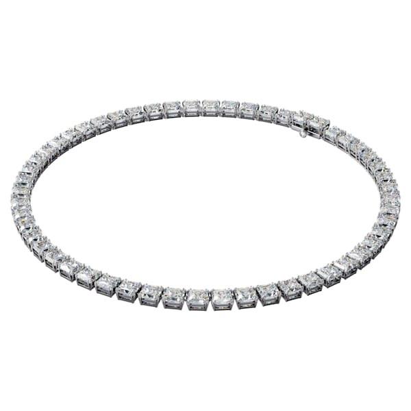 Millenia necklace, Square cut Swarovski Zirconia and crystal