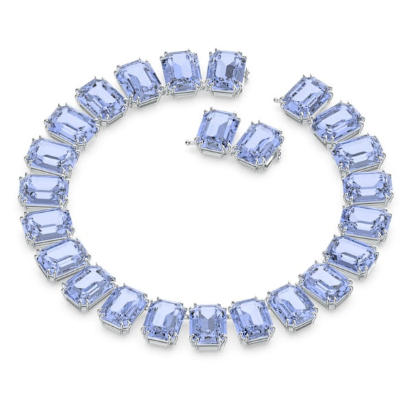 Millenia necklace, Octagon cut crystals, Blue