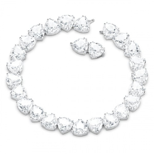 Millenia necklace, Trilliant cut crystal, White