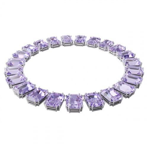 Millenia necklace, Octagon cut crystals, Purple