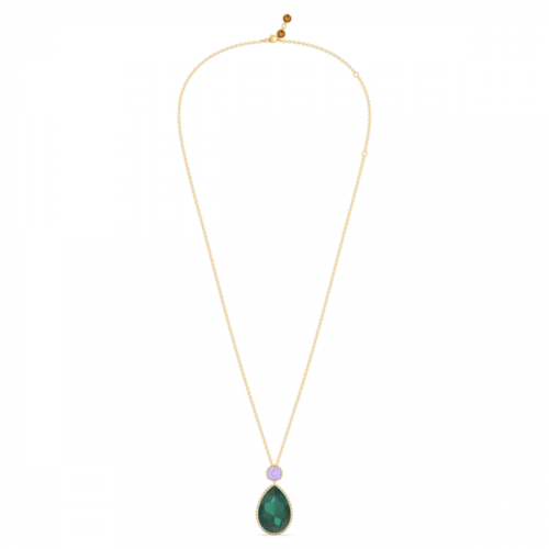 Orbita necklace, Drop cut crystal, Multicolored