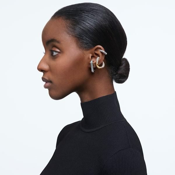 Dextera ear cuff, White, Mixed metal finish