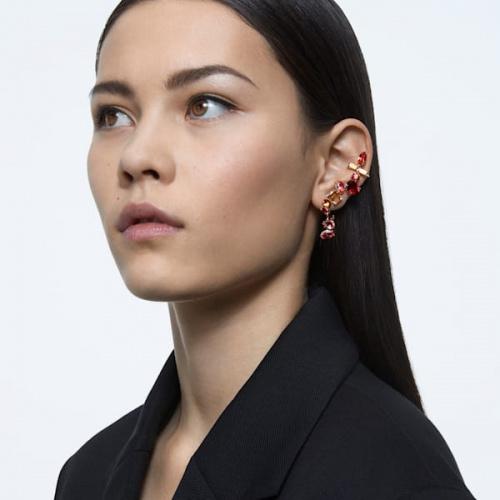 Gema clip earrings, Multicolored, Gold-tone plated