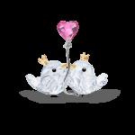 LOVE BIRDS, PINK HEART