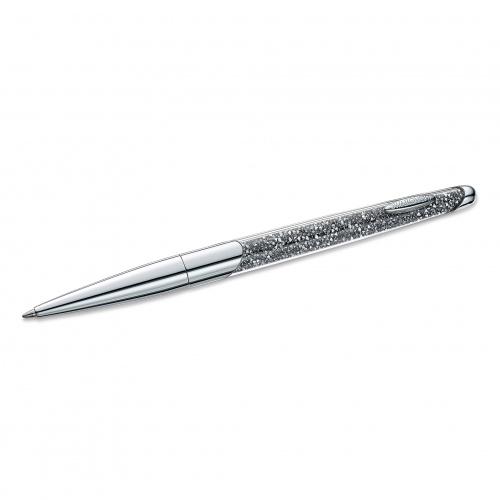 Crystalline Nova Ballpoint Pen, Gray, Chrome Plated