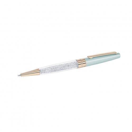Crystalline Stardust Ballpoint Pen, Light Green Rose Gold Plated