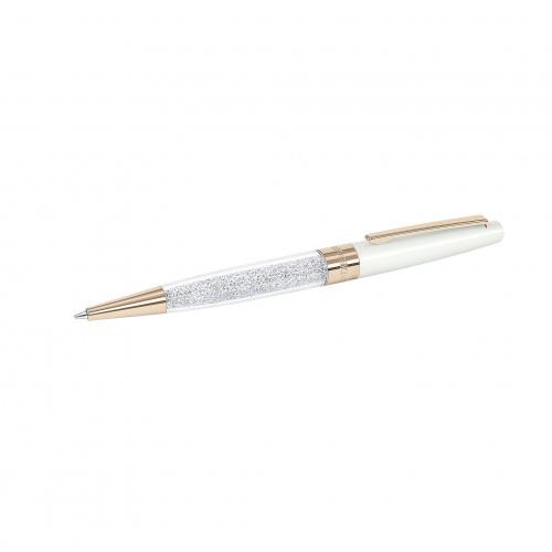 Crystalline Stardust Ballpoint Pen, White Rose Gold Plated