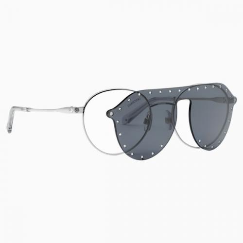 Swarovski Sunglasses with Click-on Mask, SK0275-H 52016, Gray