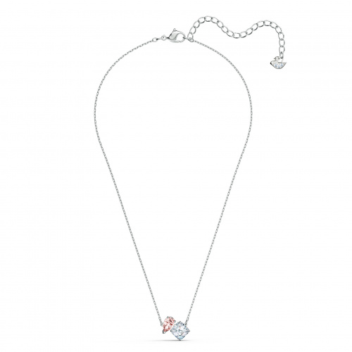 Attract Soul Necklace, Pink, Rhodium plated