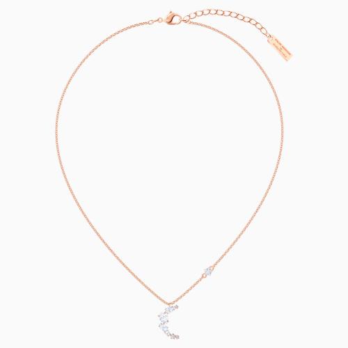 Penélope Cruz Moonsun Necklace, White, Rose-gold tone plated