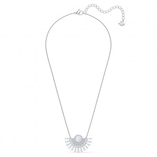 Swarovski Sparkling Dance Dial Up Necklace, Medium, White, Rhodium plated