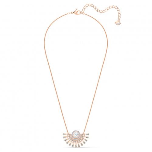 Swarovski Sparkling Dance Dial Up Necklace, Medium, Gray, Rose-gold tone plated