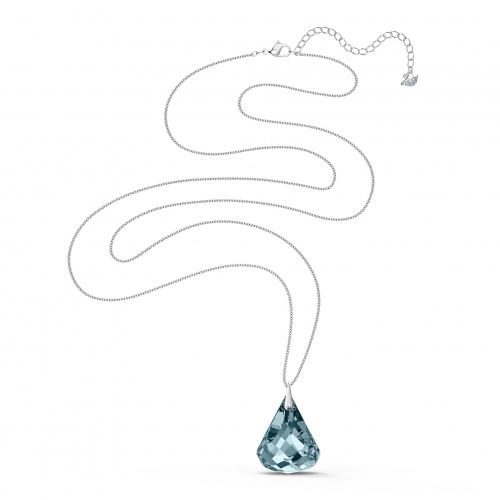 Spirit Necklace, Blue, Rhodium plated