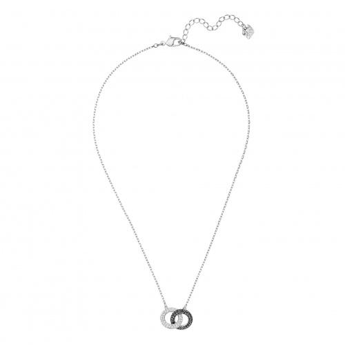 Stone Necklace, Multi-colored, Rhodium plated
