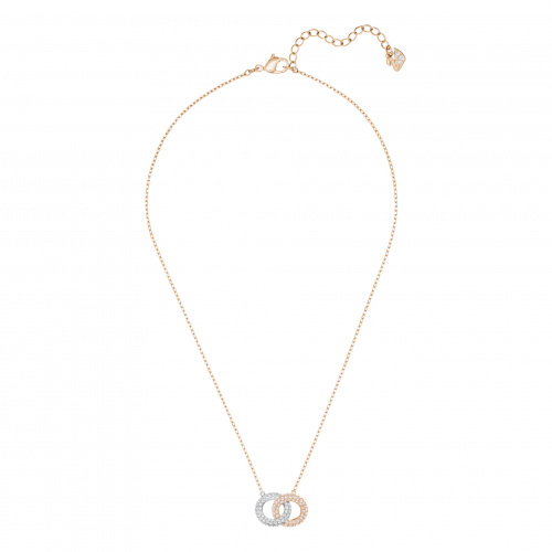 Stone Necklace, Multi-colored, Rose-gold tone plated