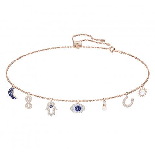Swarovski Symbolic Necklace, Multi-colored, Rose-gold tone plated