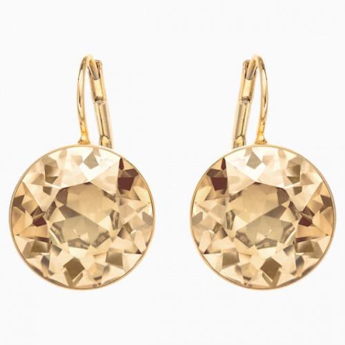 Bella Pierced Earrings, Gold tone, Gold-tone plated