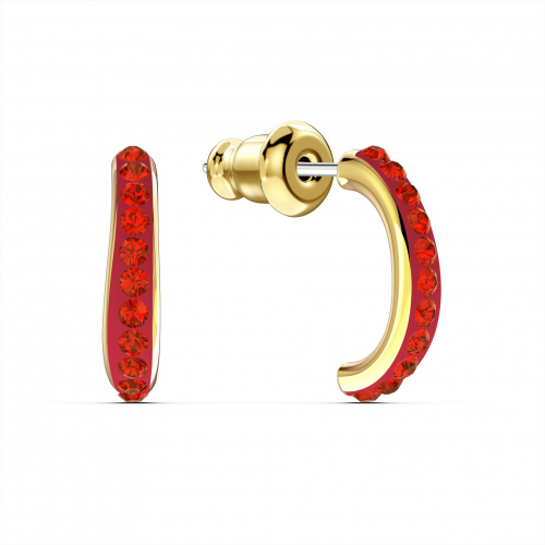 The Elements Hoop Pierced Earrings, Red, Gold-tone plated