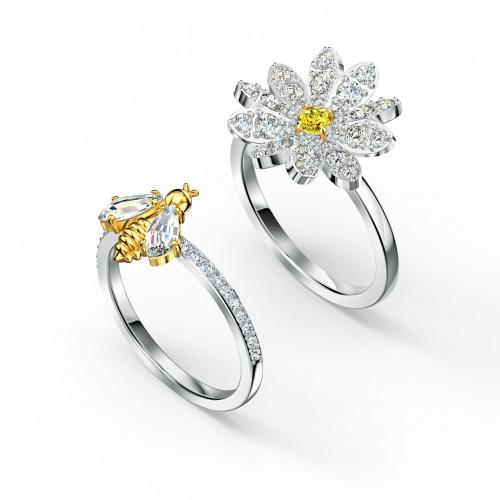 Eternal Flower Ring Set, Yellow, Mixed metal finish